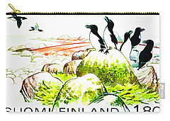 Razorbills Carry-all Pouch by Lanjee Chee