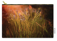 Carry-all Pouch featuring the photograph Reaching For The Sunset Dark by Mary Jo Allen