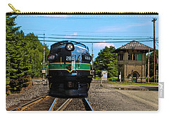 Reading 284  Train Carry-all Pouch by Iconic Images Art Gallery David Pucciarelli