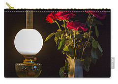 Carry-all Pouch featuring the photograph Reading By Oil Lamp by Brian Roscorla