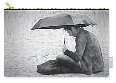 Reading In The Rain - Umbrella Carry-all Pouch by Nikolyn McDonald