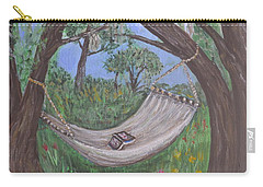 Reading Time Carry-all Pouch by Debbie Baker