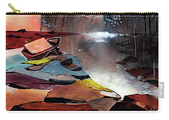 Carry-all Pouch featuring the painting Ready To Leave by Anil Nene