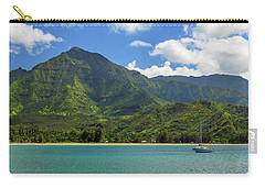Ready To Sail In Hanalei Bay Carry-all Pouch by James Eddy