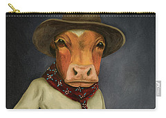 Real Cowboy 2 Carry-all Pouch by Leah Saulnier The Painting Maniac