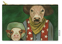 Real Cowboys 3 Carry-all Pouch by Leah Saulnier The Painting Maniac