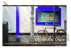 Carry-all Pouch featuring the photograph Real Hamburgers Bicycle by Craig J Satterlee