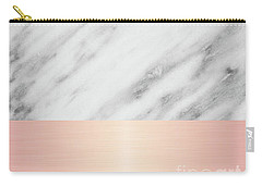 Real Italian Marble And Pink Carry-all Pouch