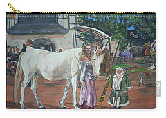 Carry-all Pouch featuring the painting Real Life In Her Dreams by Bryan Bustard