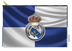 Real Madrid C F - 3 D Badge Over Flag Carry-all Pouch