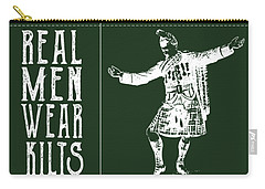 Carry-all Pouch featuring the digital art Real Men Wear Kilts by Heather Applegate