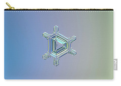 Real Snowflake Photo - Emerald Carry-all Pouch