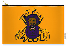 Real Wool Gold Carry-all Pouch