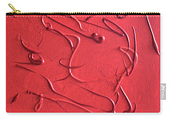 Carry-all Pouch featuring the painting Really Red by Pam Roth O'Mara