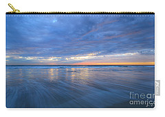 Carry-all Pouch featuring the photograph Receding Waves Oceanside by John F Tsumas
