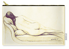 Reclining Nude Carry-all Pouch by Edgar Torres