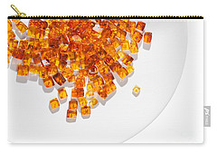 Carry-all Pouch featuring the photograph Rectangular Stones Yellow Amber  by Andrey  Godyaykin