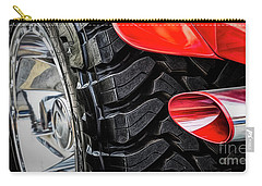 Carry-all Pouch featuring the photograph Red 4x4 by Brad Allen Fine Art
