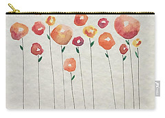 Red Abstract Floral Carry-all Pouch
