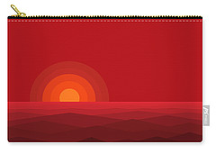Red Abstract Sunset II Carry-all Pouch