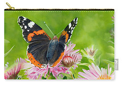 Carry-all Pouch featuring the painting Red Admiral by John Neeve