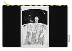 Carry-all Pouch featuring the drawing Red Alert by John Haldane