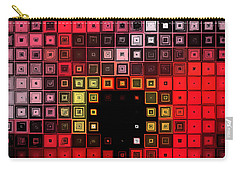 Carry-all Pouch featuring the digital art Red Alert by Shawna Rowe