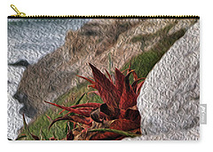 Red Aloe Vera By The Sea Carry-all Pouch