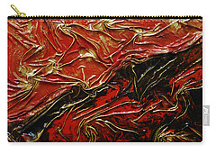 Red And Black Carry-all Pouch