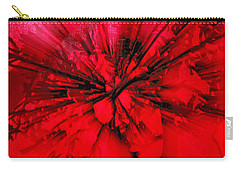 Carry-all Pouch featuring the photograph Red And Black Explosion by Susan Capuano
