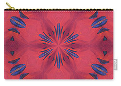 Carry-all Pouch featuring the mixed media Red And Blue by Elizabeth Lock