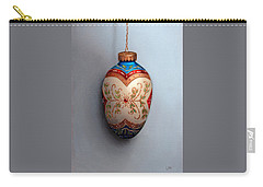 Red And Blue Filigree Egg Ornament Carry-all Pouch