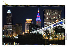 Carry-all Pouch featuring the photograph Red And Blue In Cleveland by Dale Kincaid