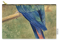Red And Blue Macaw Carry-all Pouch by Henry Stacey Marks