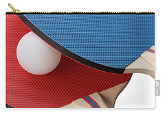Red And Blue Ping Pong Paddles - Closeup Carry-all Pouch
