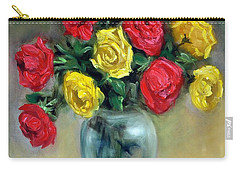 Red And Gold Luminesence  Carry-all Pouch by Randy Burns