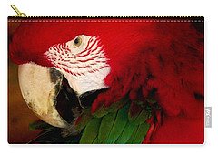 Red And Green Wing Macaw Carry-all Pouch