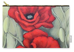 Red And Grey Carry-all Pouch