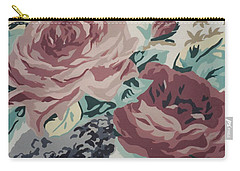 Red And Pink Flowers Carry-all Pouch