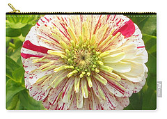 Red And White Flower Carry-all Pouch
