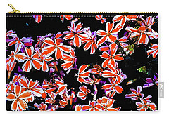 Red And White Flowers Carry-all Pouch