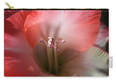 Red And White Gladiolus Flower Carry-all Pouch by Joy Watson