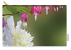 Red And White Carry-all Pouch by Judy Johnson