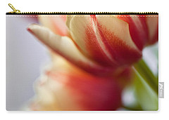 Red And White Tulips Carry-all Pouch by Nailia Schwarz