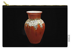 Red And White Vase Carry-all Pouch