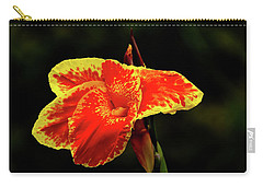 Red And Yellow Single Flower Carry-all Pouch