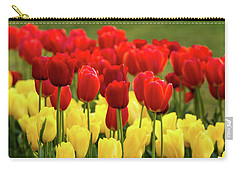 Carry-all Pouch featuring the photograph Red And Yellow Tulips by Mary Jo Allen