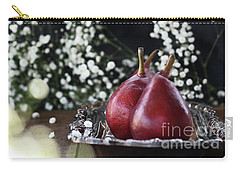 Red Anjou Pears Carry-all Pouch by Stephanie Frey