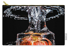 Carry-all Pouch featuring the photograph Red Apple Splash by Ray Shiu