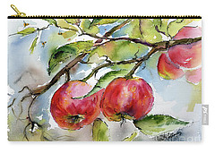 Red Apples And Bees Tree Branch Carry-all Pouch